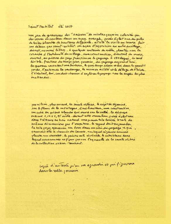 claude rutault - C.A.C. St Restitut - sur une proposition d'Anni