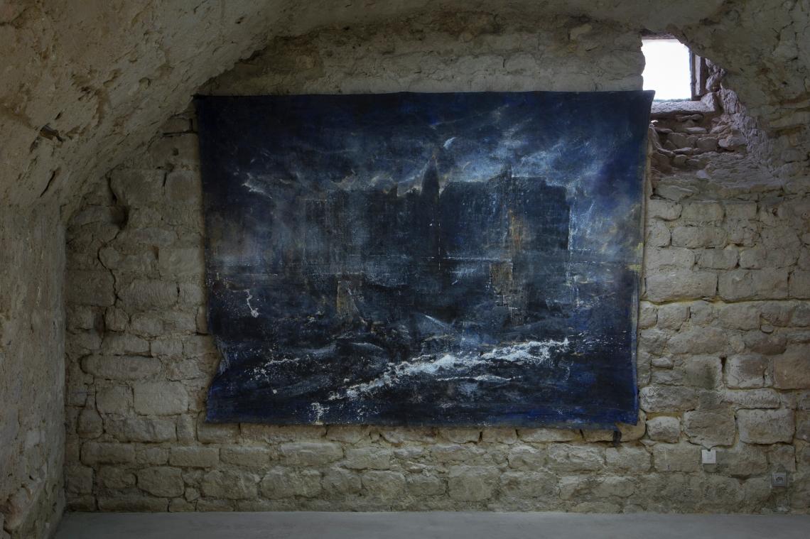 David Raffini, Hashima, peinture sur toile, 195 x 265 cm